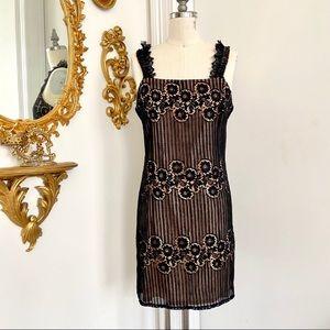 Reformation lace mini dress